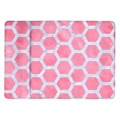 HEXAGON2 WHITE MARBLE & PINK WATERCOLOR Samsung Galaxy Tab 10.1  P7500 Flip Case