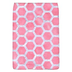 HEXAGON2 WHITE MARBLE & PINK WATERCOLOR Flap Covers (L)