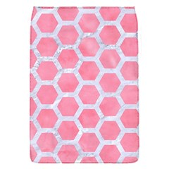 HEXAGON2 WHITE MARBLE & PINK WATERCOLOR Flap Covers (S)