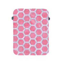 HEXAGON2 WHITE MARBLE & PINK WATERCOLOR Apple iPad 2/3/4 Protective Soft Cases