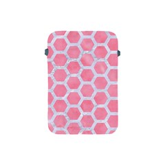 HEXAGON2 WHITE MARBLE & PINK WATERCOLOR Apple iPad Mini Protective Soft Cases