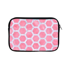 HEXAGON2 WHITE MARBLE & PINK WATERCOLOR Apple iPad Mini Zipper Cases