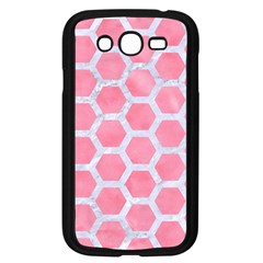 HEXAGON2 WHITE MARBLE & PINK WATERCOLOR Samsung Galaxy Grand DUOS I9082 Case (Black)