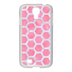 HEXAGON2 WHITE MARBLE & PINK WATERCOLOR Samsung GALAXY S4 I9500/ I9505 Case (White)