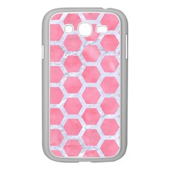 HEXAGON2 WHITE MARBLE & PINK WATERCOLOR Samsung Galaxy Grand DUOS I9082 Case (White)