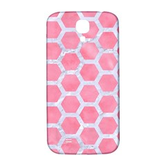 HEXAGON2 WHITE MARBLE & PINK WATERCOLOR Samsung Galaxy S4 I9500/I9505  Hardshell Back Case