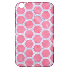 HEXAGON2 WHITE MARBLE & PINK WATERCOLOR Samsung Galaxy Tab 3 (8 ) T3100 Hardshell Case