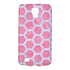 HEXAGON2 WHITE MARBLE & PINK WATERCOLOR Galaxy S4 Active