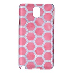 HEXAGON2 WHITE MARBLE & PINK WATERCOLOR Samsung Galaxy Note 3 N9005 Hardshell Case
