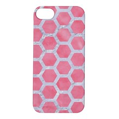 HEXAGON2 WHITE MARBLE & PINK WATERCOLOR Apple iPhone 5S/ SE Hardshell Case