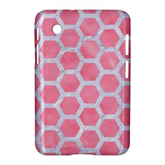 HEXAGON2 WHITE MARBLE & PINK WATERCOLOR Samsung Galaxy Tab 2 (7 ) P3100 Hardshell Case