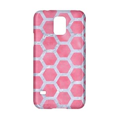 HEXAGON2 WHITE MARBLE & PINK WATERCOLOR Samsung Galaxy S5 Hardshell Case