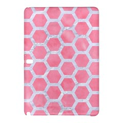 HEXAGON2 WHITE MARBLE & PINK WATERCOLOR Samsung Galaxy Tab Pro 10.1 Hardshell Case