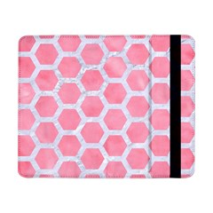 HEXAGON2 WHITE MARBLE & PINK WATERCOLOR Samsung Galaxy Tab Pro 8.4  Flip Case