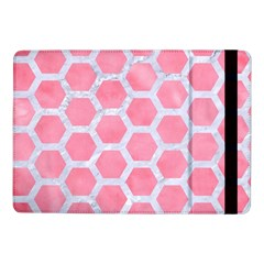 HEXAGON2 WHITE MARBLE & PINK WATERCOLOR Samsung Galaxy Tab Pro 10.1  Flip Case