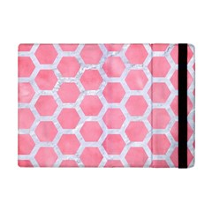 HEXAGON2 WHITE MARBLE & PINK WATERCOLOR iPad Mini 2 Flip Cases