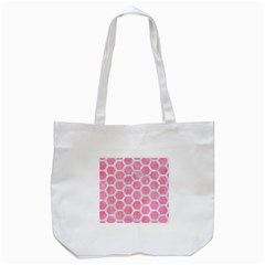 HEXAGON2 WHITE MARBLE & PINK WATERCOLOR Tote Bag (White)