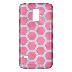 HEXAGON2 WHITE MARBLE & PINK WATERCOLOR Galaxy S5 Mini
