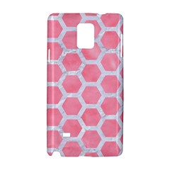 HEXAGON2 WHITE MARBLE & PINK WATERCOLOR Samsung Galaxy Note 4 Hardshell Case