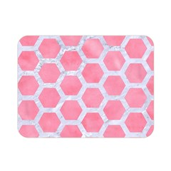 HEXAGON2 WHITE MARBLE & PINK WATERCOLOR Double Sided Flano Blanket (Mini)