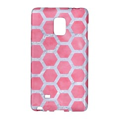HEXAGON2 WHITE MARBLE & PINK WATERCOLOR Galaxy Note Edge
