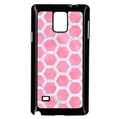 HEXAGON2 WHITE MARBLE & PINK WATERCOLOR Samsung Galaxy Note 4 Case (Black)