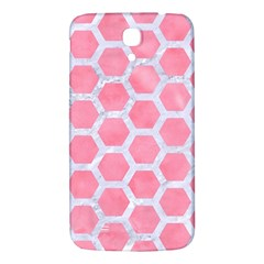 HEXAGON2 WHITE MARBLE & PINK WATERCOLOR Samsung Galaxy Mega I9200 Hardshell Back Case