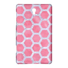 HEXAGON2 WHITE MARBLE & PINK WATERCOLOR Samsung Galaxy Tab S (8.4 ) Hardshell Case
