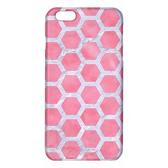 HEXAGON2 WHITE MARBLE & PINK WATERCOLOR iPhone 6 Plus/6S Plus TPU Case