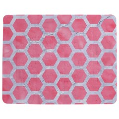 HEXAGON2 WHITE MARBLE & PINK WATERCOLOR Jigsaw Puzzle Photo Stand (Rectangular)