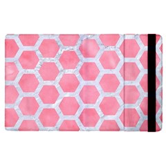 HEXAGON2 WHITE MARBLE & PINK WATERCOLOR Apple iPad Pro 12.9   Flip Case