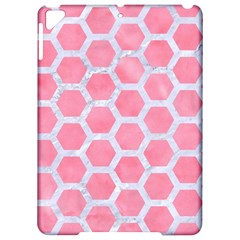 HEXAGON2 WHITE MARBLE & PINK WATERCOLOR Apple iPad Pro 9.7   Hardshell Case