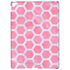 HEXAGON2 WHITE MARBLE & PINK WATERCOLOR Apple iPad Pro 12.9   Hardshell Case
