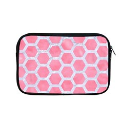 HEXAGON2 WHITE MARBLE & PINK WATERCOLOR Apple MacBook Pro 13  Zipper Case