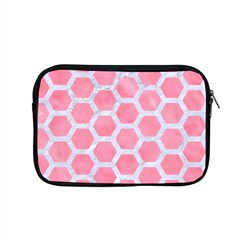 HEXAGON2 WHITE MARBLE & PINK WATERCOLOR Apple MacBook Pro 15  Zipper Case