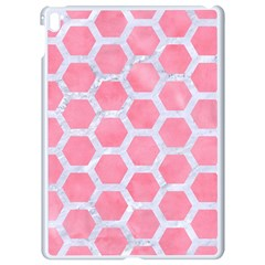 HEXAGON2 WHITE MARBLE & PINK WATERCOLOR Apple iPad Pro 9.7   White Seamless Case