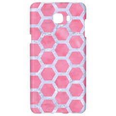 HEXAGON2 WHITE MARBLE & PINK WATERCOLOR Samsung C9 Pro Hardshell Case