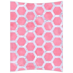 HEXAGON2 WHITE MARBLE & PINK WATERCOLOR Back Support Cushion