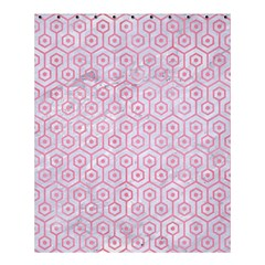 Hexagon1 White Marble & Pink Watercolor (r) Shower Curtain 60  X 72  (medium)  by trendistuff