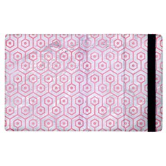 Hexagon1 White Marble & Pink Watercolor (r) Apple Ipad 3/4 Flip Case by trendistuff