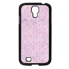 Hexagon1 White Marble & Pink Watercolor (r) Samsung Galaxy S4 I9500/ I9505 Case (black) by trendistuff