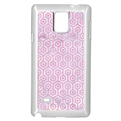 Hexagon1 White Marble & Pink Watercolor (r) Samsung Galaxy Note 4 Case (white) by trendistuff
