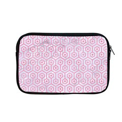 Hexagon1 White Marble & Pink Watercolor (r) Apple Macbook Pro 13  Zipper Case