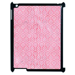 Hexagon1 White Marble & Pink Watercolor Apple Ipad 2 Case (black) by trendistuff