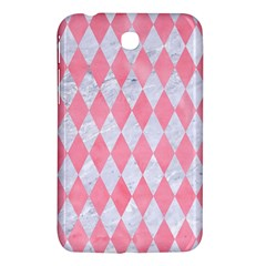 Diamond1 White Marble & Pink Watercolor Samsung Galaxy Tab 3 (7 ) P3200 Hardshell Case  by trendistuff