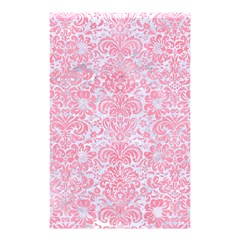 Damask2 White Marble & Pink Watercolor (r) Shower Curtain 48  X 72  (small)  by trendistuff