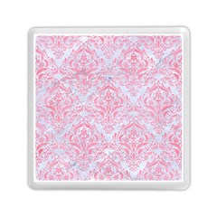 Damask1 White Marble & Pink Watercolor (r) Memory Card Reader (square)  by trendistuff