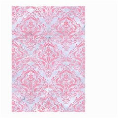 Damask1 White Marble & Pink Watercolor (r) Small Garden Flag (two Sides) by trendistuff