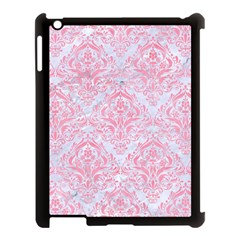 Damask1 White Marble & Pink Watercolor (r) Apple Ipad 3/4 Case (black) by trendistuff
