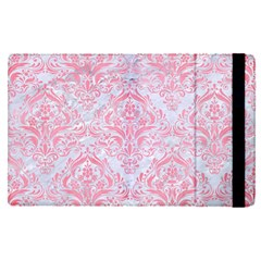 Damask1 White Marble & Pink Watercolor (r) Apple Ipad Pro 12 9   Flip Case by trendistuff